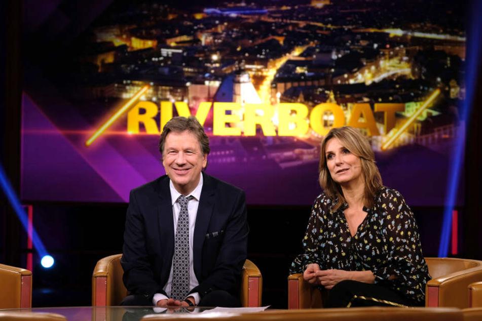 Jörg Kachelmann und Kim Fisher begrüßen auch in dieser Woche interessante Gäste im MDR Riverboat.