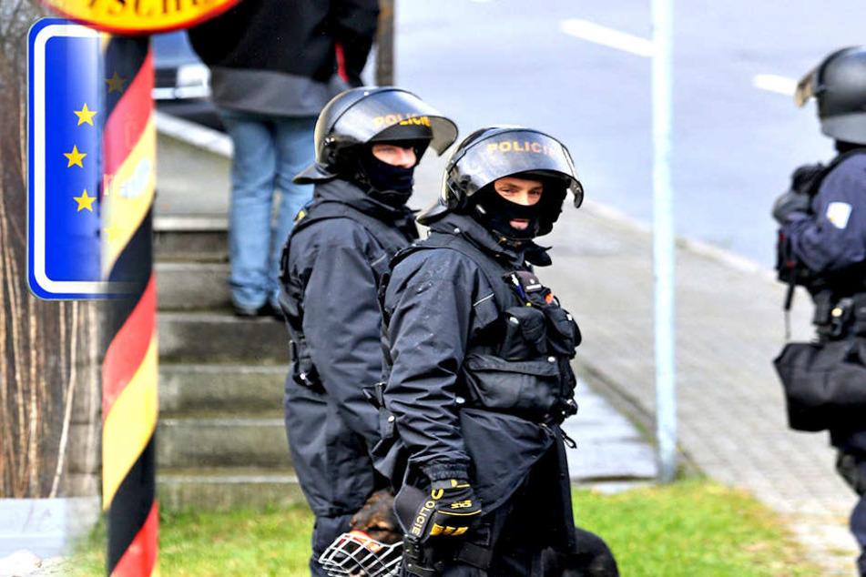 Im Oktober 2016 übten Tschechen und Deutsche gemeinsam an der Grenze im  Erzgebirge. Anlass war der länderübergreifende Polizeivertrag.