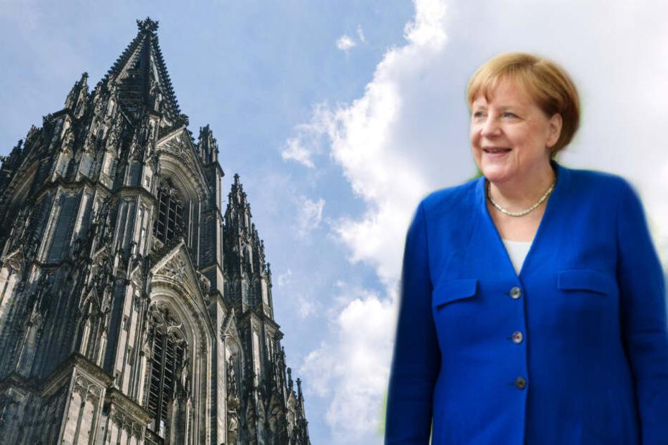 Die Bundeskanzlerin Angela Merkel wird heute in Köln erwartet.