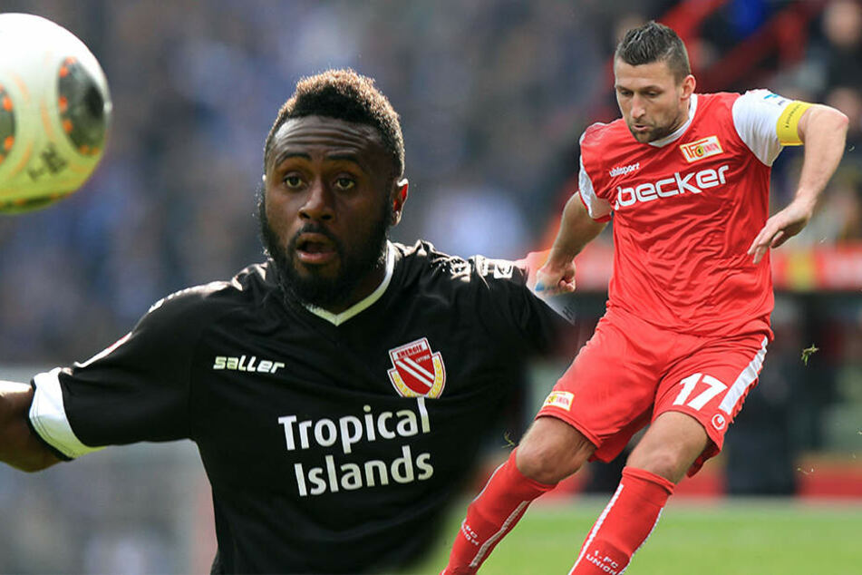 Boubacar Sanogo (l.) und Torsten Mattuschka (r.) hat es mittlerweile zum Regionalliga-Aufsteiger VSG Altglienicke verschlagen.