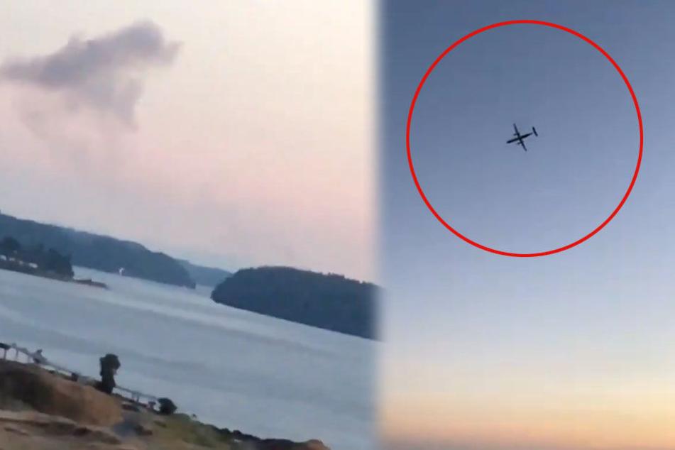 Kurz nach dem Start stürzte das Flugzeug auf einer Insel ab.