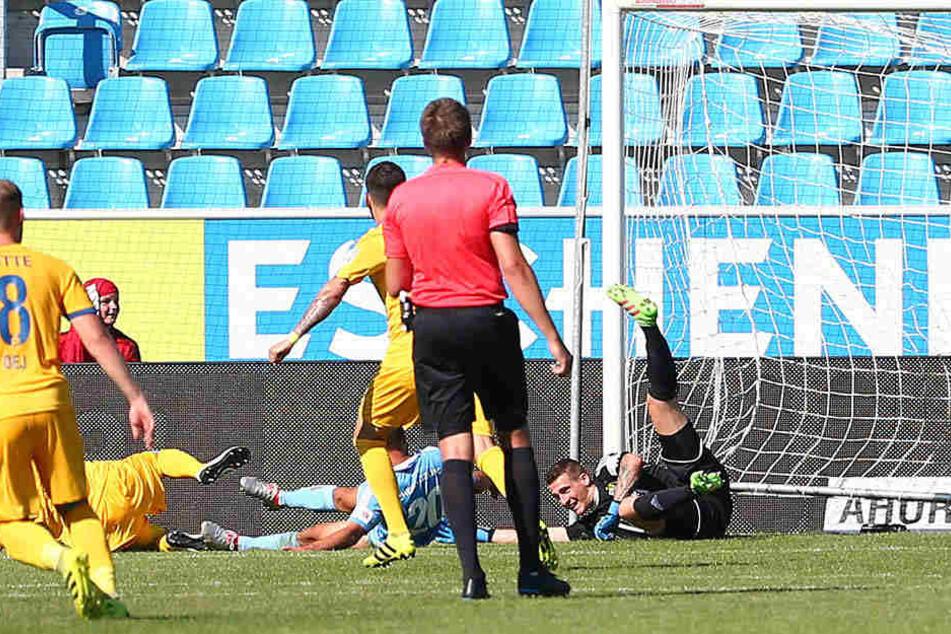 Viermal verloren die Himmelblauen in der Hinrunde mit 0:1. So auch gegen Aufsteiger Lotte.