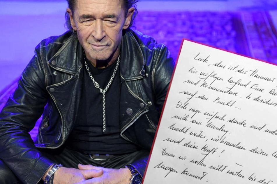 Handgeschriebener Brief von Peter Maffay rührt Fans zu Tränen
