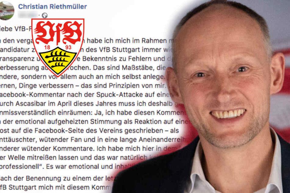 """VfB Stuttgart: """"Emotional und inhaltlich daneben"""": Riethmüller räumt Kommentar zu Spuck-Attacke ein"""