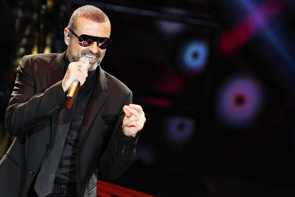 George Michael beim Auftritt in Rotterdam am 10.10.2011.