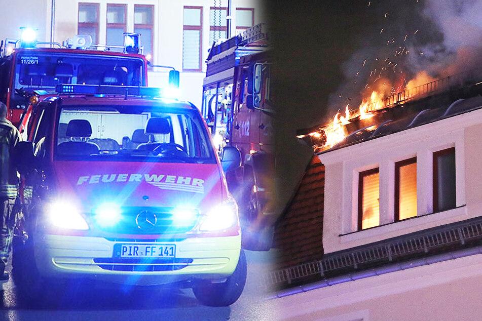 Heftiger Hausbrand in Freital: 30 Bewohner nun ohne Wohnung!
