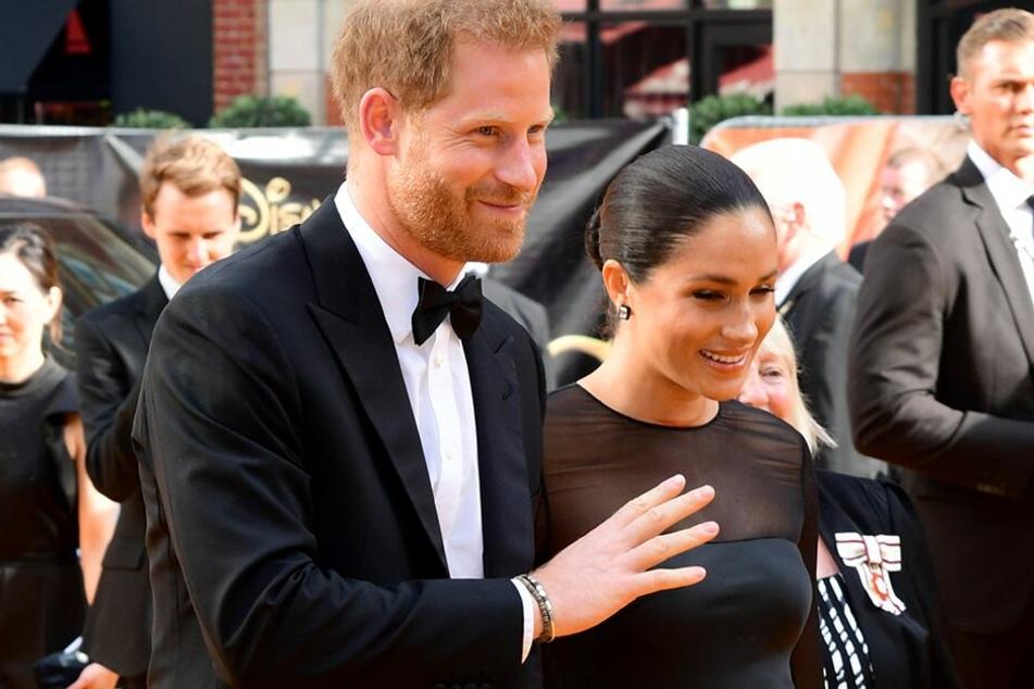 """Prinz Harry beim Besuch mit seiner Frau Meghan der Europa-Premiere von """"König der Löwen"""" im Leicester Sqaure."""