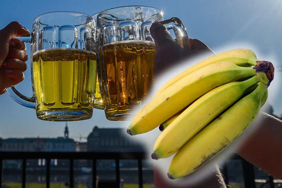Das ist kein Mythos: Tatsächlich enthalten mehrere reife Bananen so viel Alkohol wie ein kleines Bier. Na dann, Prost!