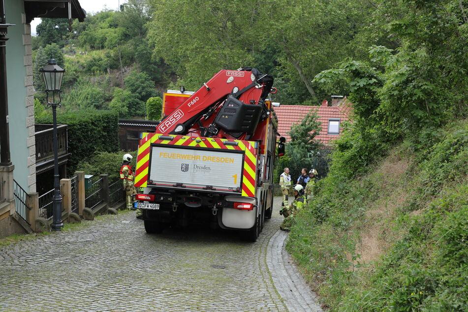 Die schweren Fahrzeuge der Feuerwehr hatten weniger Probleme damit, auf der kurvigen Landstraße voran zu kommen.