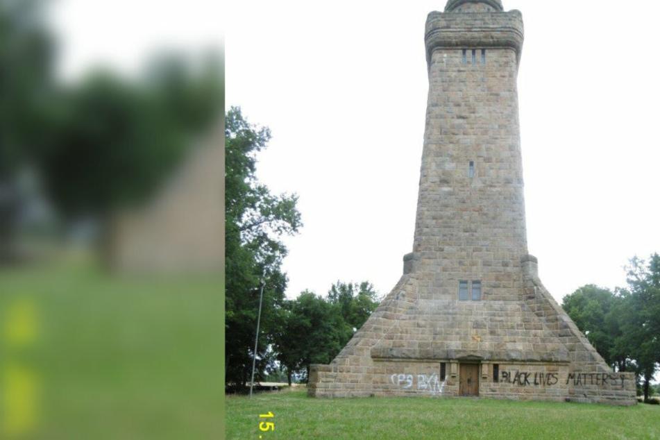 Farbanschlag auf Bismarckturm: Polizei sucht Zeugen