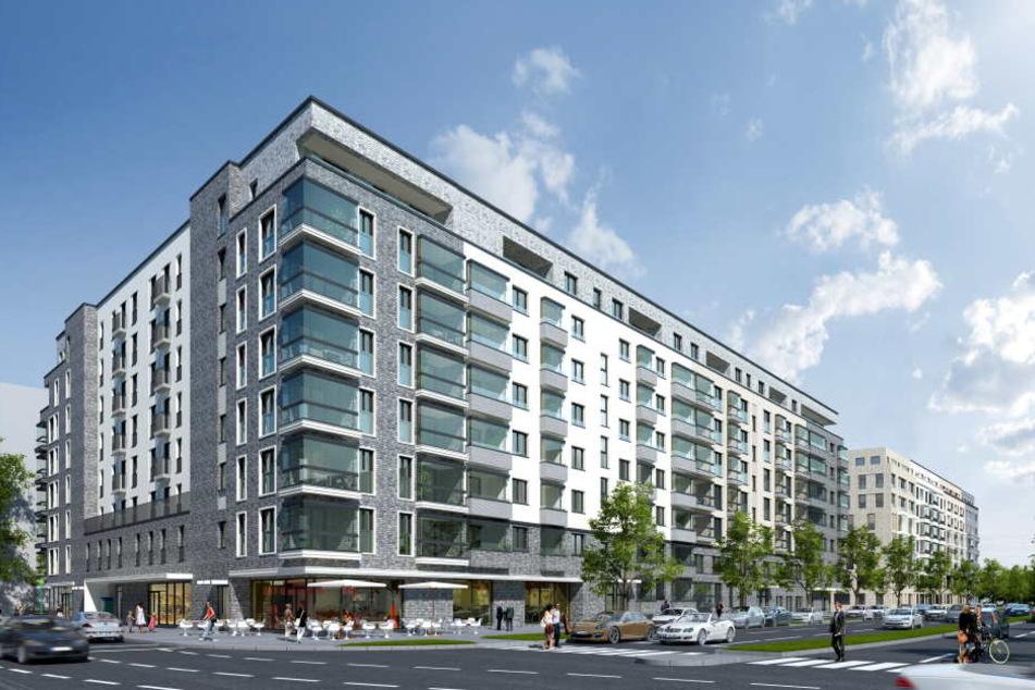 """Der Entwurf zeigt bereits, wie die Wohnsiedlung des """"Hafen Quartiers"""" aussehen soll."""