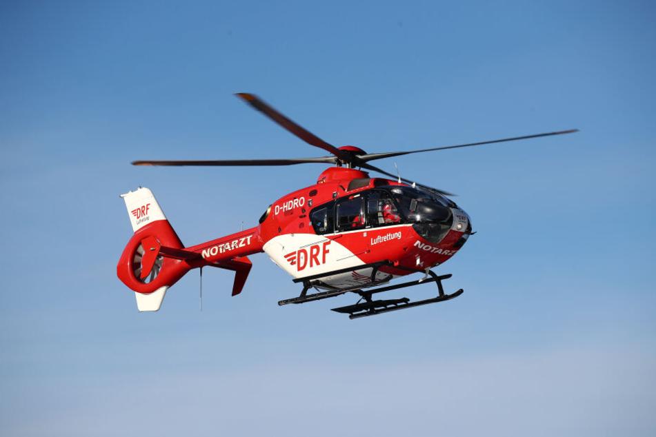 Ein Rettungshubschrauber sorgte am Freitag für eine Vollsperrung auf der A38. (Symbolbild)