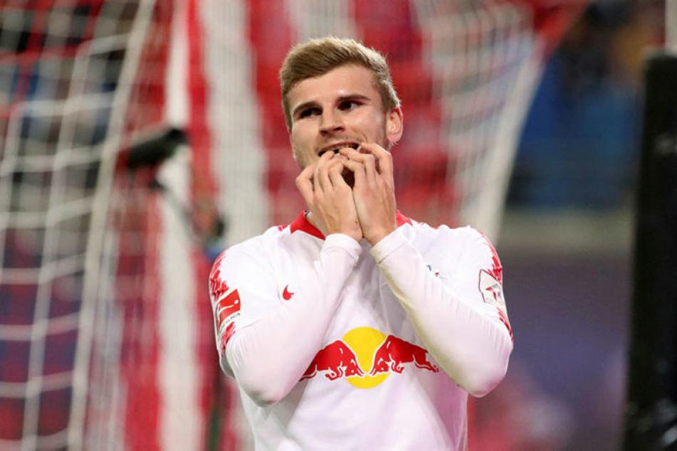 Fehlte gegen sein Jugend- und Ex-Verein das Glück: RB Leipzigs Nationalstürmer Timo Werner wurde zudem ein Abseitstor aberkannt.