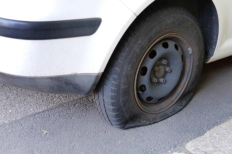 Seit Wochen werden in Chemnitz Reifen zerstochen, diesmal in Gablenz.