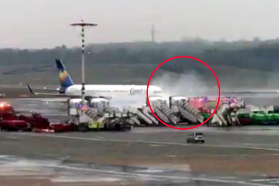 Rauch auf dem Rollfeld! Schon wieder Zwischenfall am Hamburger Flughafen