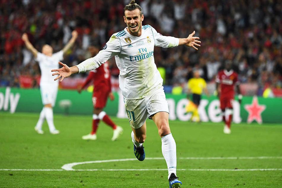 Der Spielentscheider: Madrids Gareth Bale durfte gleich über zwei eigene Tore jubeln!