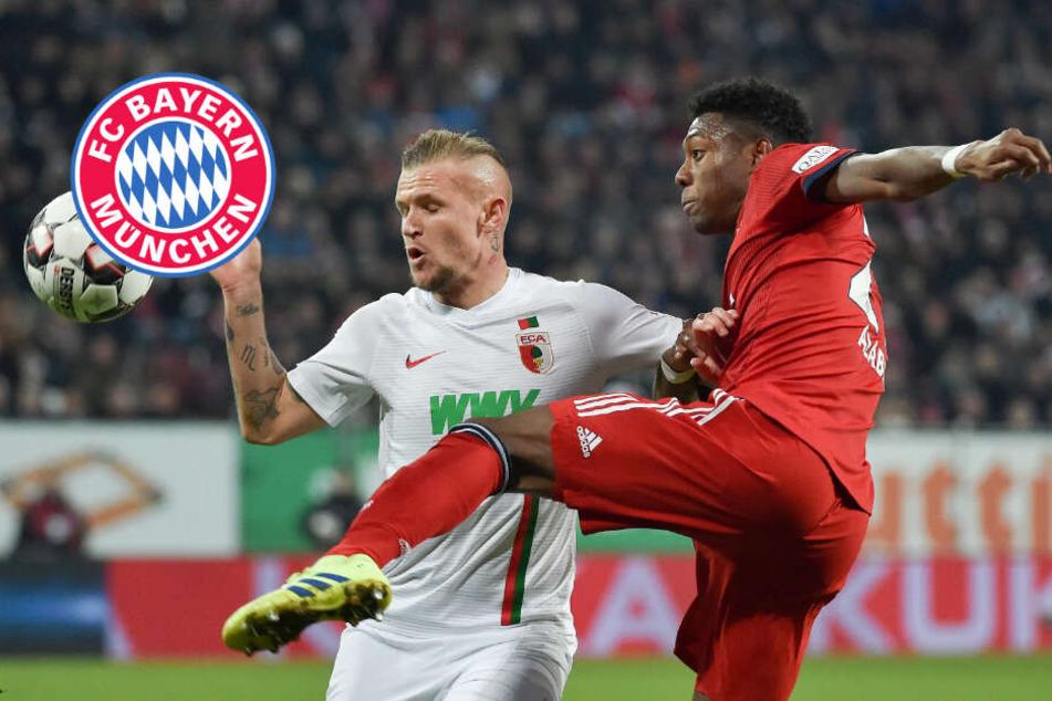 Nach zweimaligem Rückstand: Bayern müht sich in Augsburg zum Sieg
