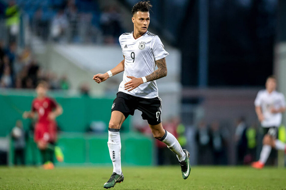 Stürmt für Deutschland: Davie Selke (22) steht aktuell beim Bundesligisten RB Leipzig unter Vertrag.