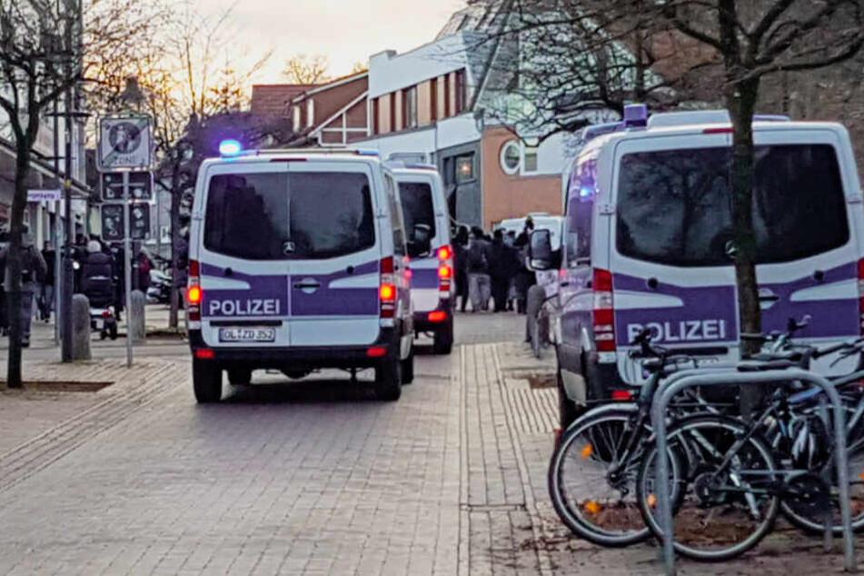 Die Polizei begleitete den Protestzug.