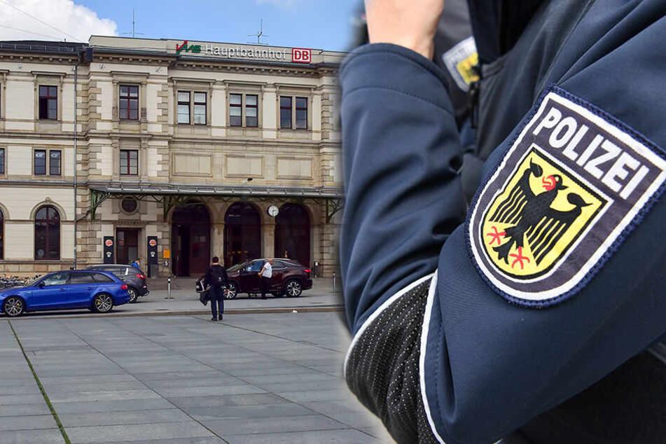 """Chemnitz: """"Du bist tot..."""": Betrunkener rastet am Bahnhof aus und geht auf Polizei los"""