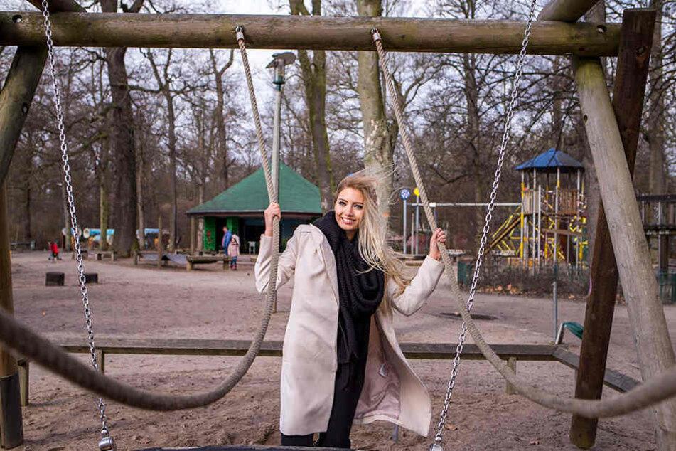 Auf diesem Spielplatz im Clara-Park hat Soraya als Kind gern und oft getobt.