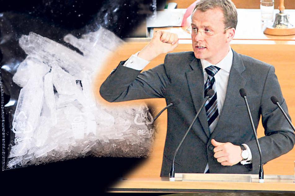 CDU-Politiker Alexander Krauß (41) macht sich stark für den Kampf gegen die  Teufelsdroge Crystal.