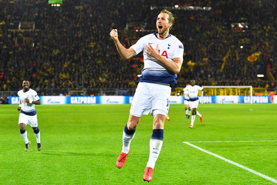 Erzielte die Entscheidung kurz nach der Halbzeitpause: Tottenhams Stürmer Harry Kane traf zum 1:0 für seine Mannen.