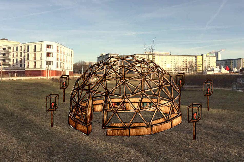 """Eine Kuppel als Veranstaltungsraum - nur eine Idee von vielen Vorschlägen, die bei """"Nimm Platz!"""" zur Abstimmung stehen."""