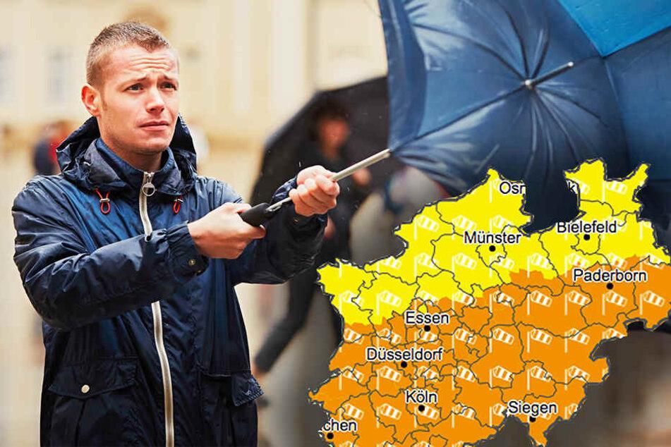 Wetterdienst warnt: Sturm nimmt Kurs auf NRW!