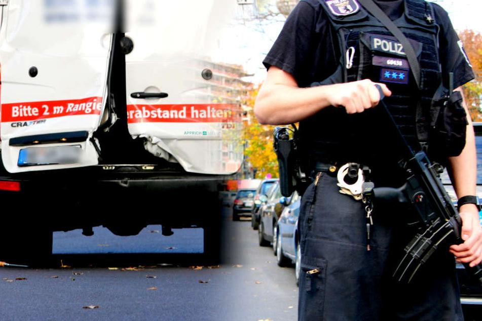 Schüsse auf Polizei! Männer überfallen Geldtransporter in Berlin