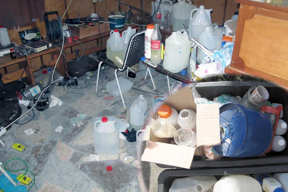 Drogenküche in ehemaligem Gasthof gefunden