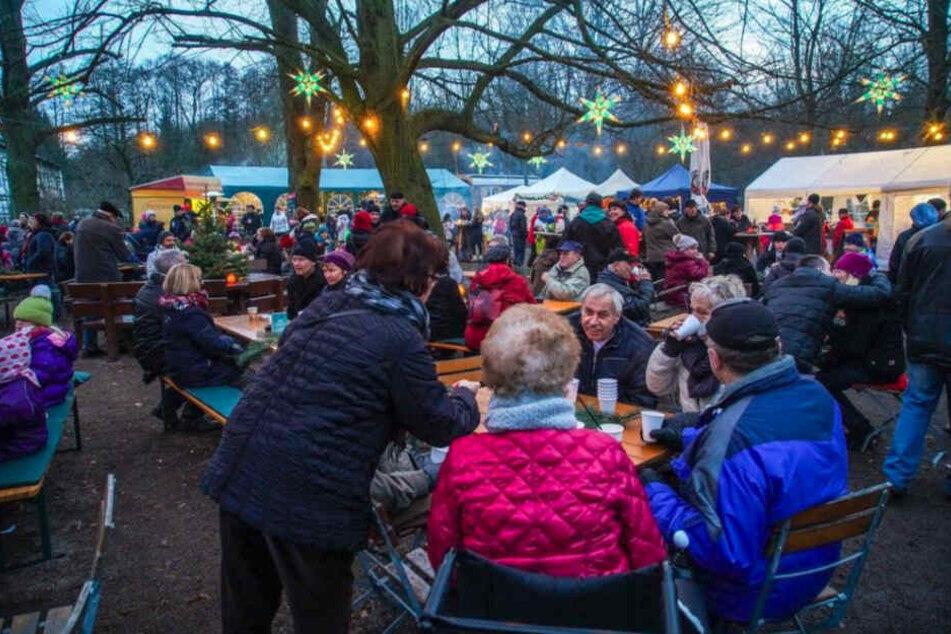 Der Weihnachtsmarkt an der Hofewiese.