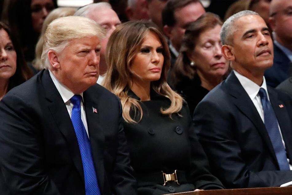 Ziemlich beste Feinde: Die Trumps und die Obamas.