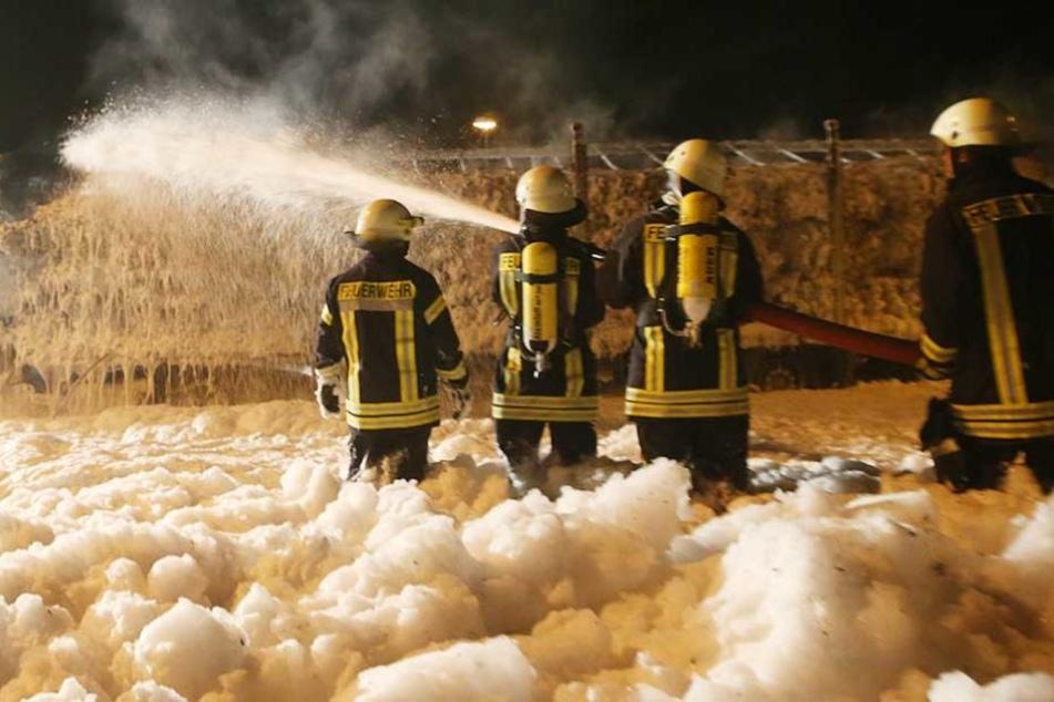 Die Feuerwehr löschte den Brand, konnte den Laster aber nicht retten (Symbolbild).