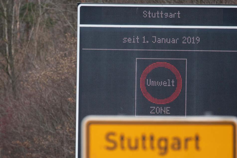 In Stuttgart gilt das Diesel-Fahrverbot seit 1. Januar.