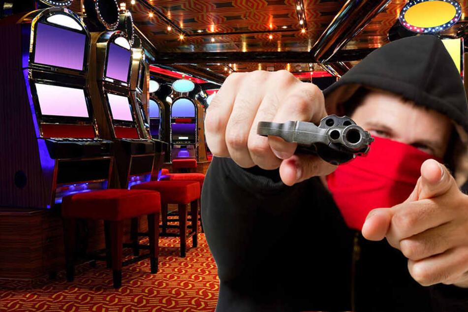 Mit einer Waffe stürmte der unbekannte in die Spielhalle und bedrohte die Angestellte. (Symbolbild)