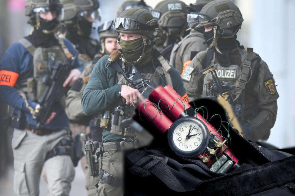 Die Polizei rückte mit einem Großaufgebot und einem Entschärfer-Team an.