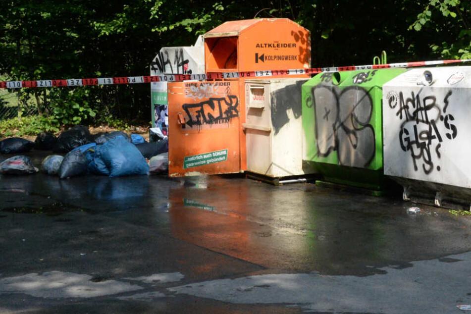 Zwei Liter Blut waren bereits aus dem Container geflossen.