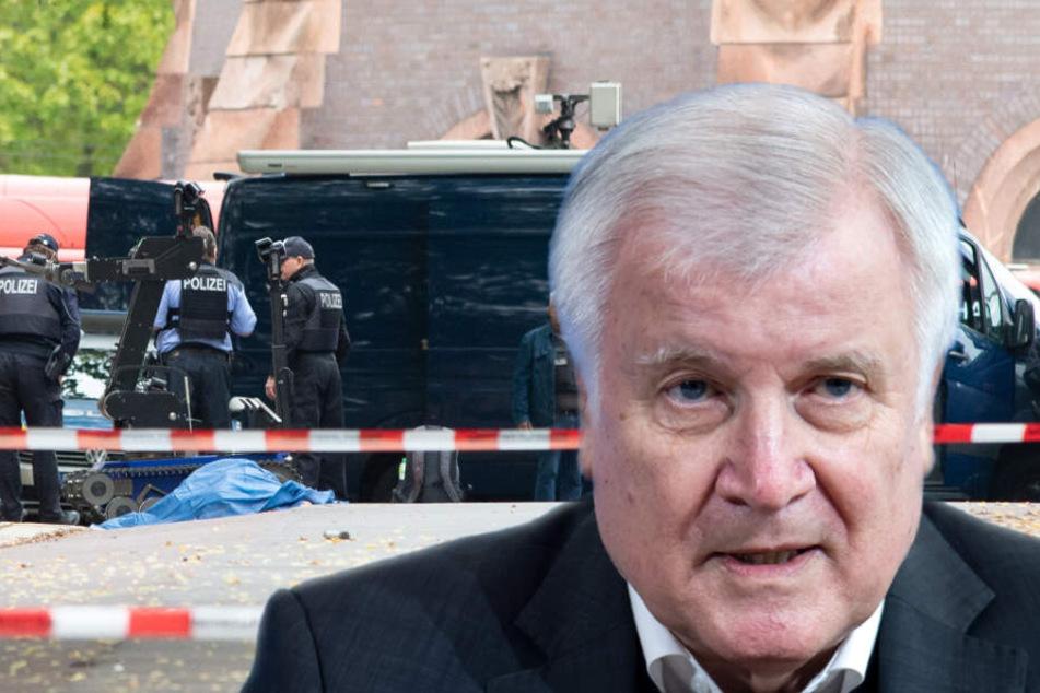 Nach Anschlag in Halle: Minister Seehofer warnt vor rechtem Terror