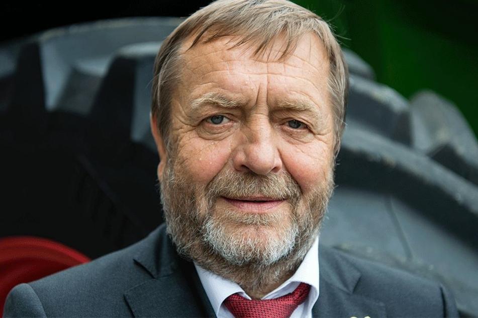 Sachsens Bauernpräsident Wolfgang Vogel geht lieber auf die Tierschützer los.