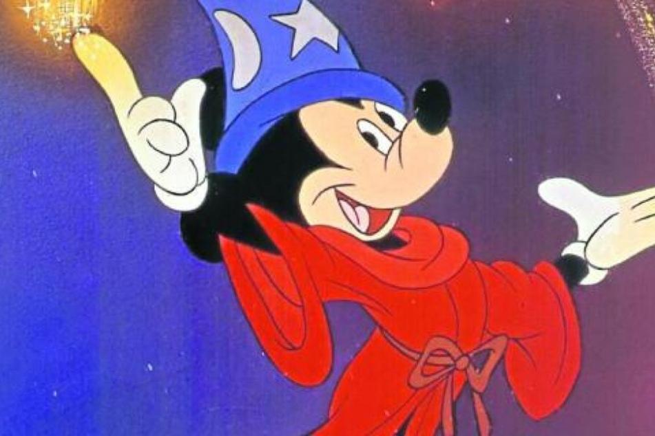 Mickey Mouse trägt weiße Handschuhe. Damit wirkt die Maus wesentlich menschlicher.