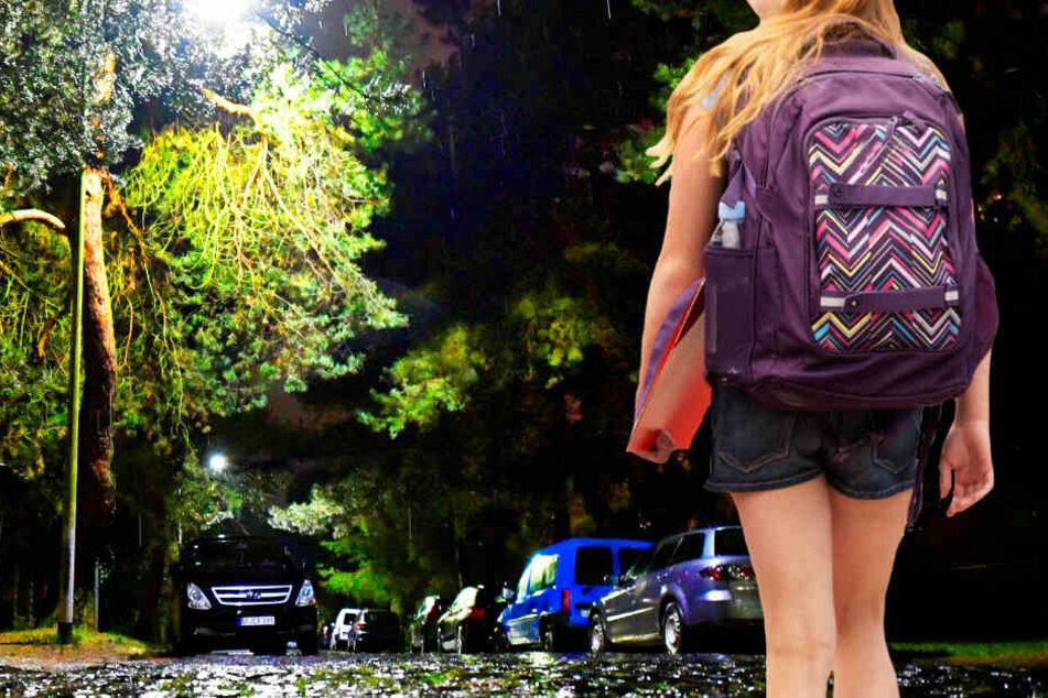 Auch wenn es dunkel war, die Elfjährige machte sich auf den Weg zur Schule (Symbolbild).