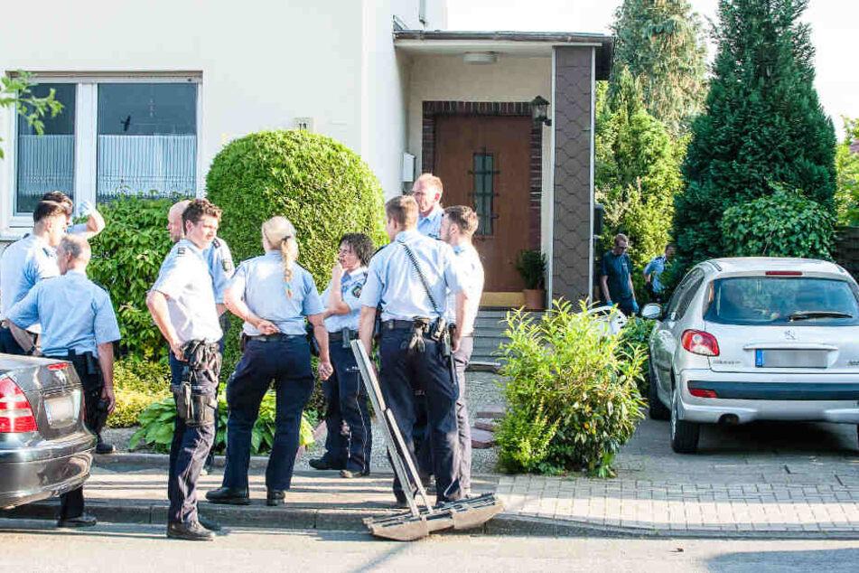 In dem Garten eines Nachbarn konnte der Täter überwältigt werden.