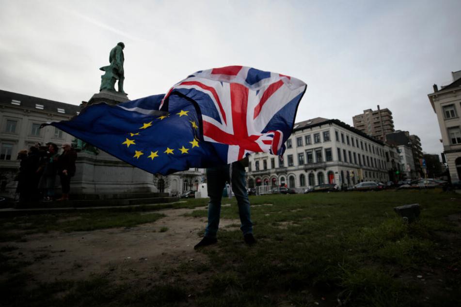 Den Union Jack und die europäische Fahne wird man in Brüssel kaum noch zusammen sehnen.
