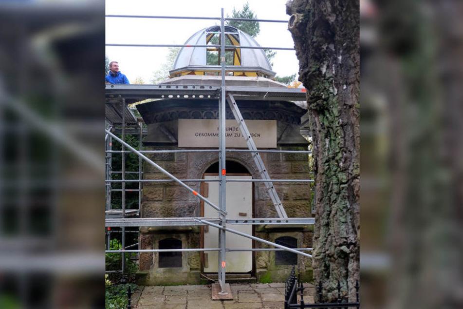 Im Frühjahr 2018 soll das Mausoleum fertig sein.