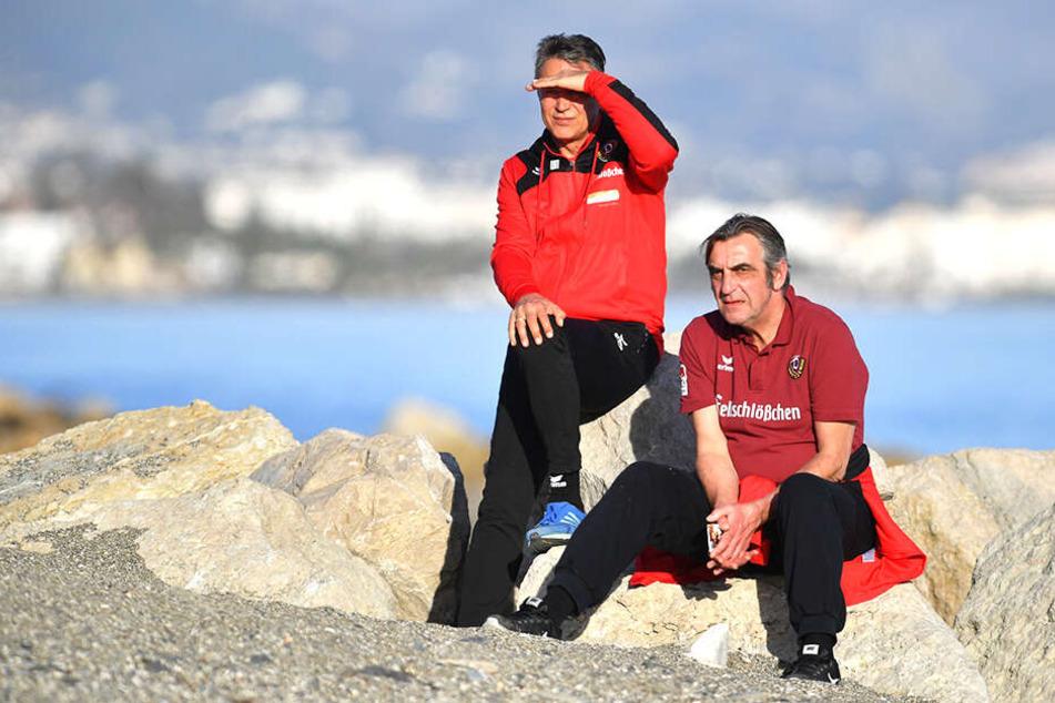 Im Wintercamp 2017 in Marbella schauten Uwe Neuhaus und Ralf Minge noch in eine gemeinsame Dynamo-Zukunft.