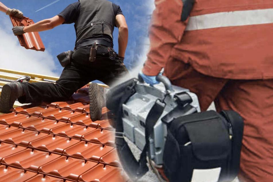 Ein Gasgemisch verpuffte auf dem Dach in der Strehlaer Straße.