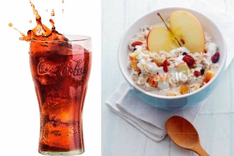 Süße Getränke löschen den Durst, entziehen dem Körper aber Wasser. Leichte Kost zu essen, ist ratsam.