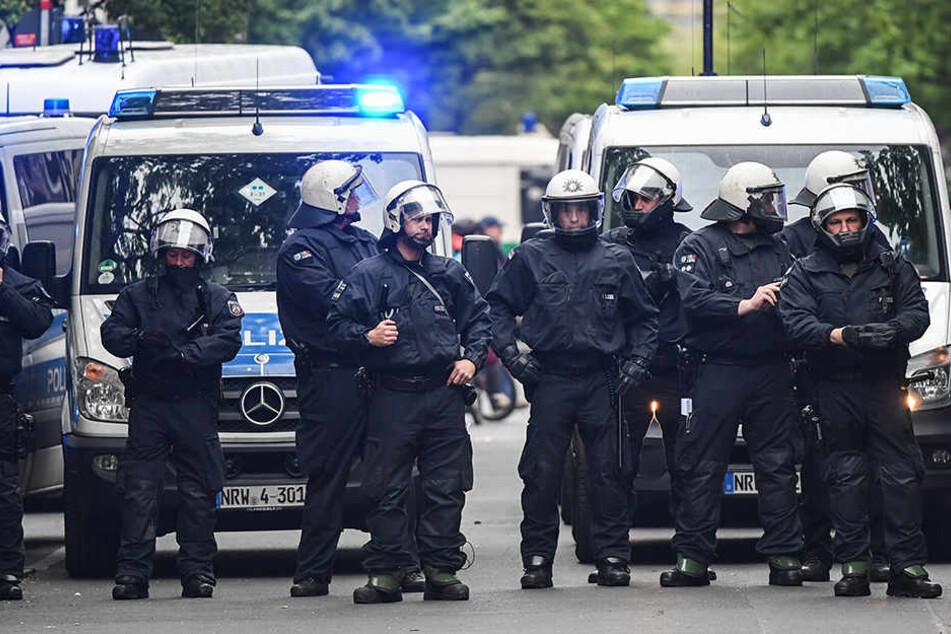 Die Polizei war am 1. Mai mit bis zu 5400 Kräften im Einsatz.