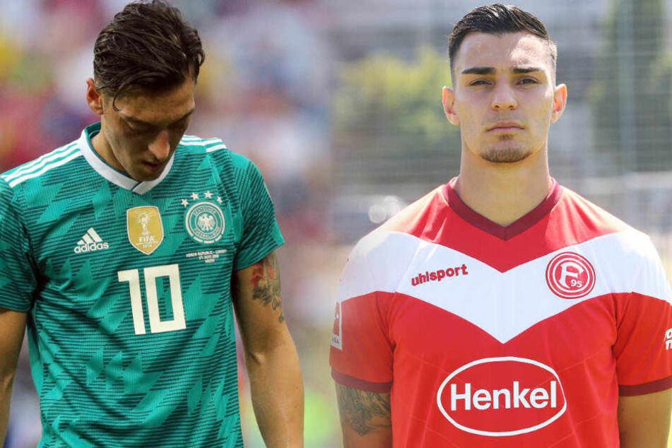 Sind beide in Gelsenkirchen aufgewachsen: Mesut Özil (li.) und Kaan Ayhan.